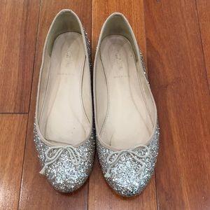 J Crew Glitter Ballet Flats